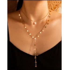 ⭐️ Star Tassel Layered Double Chain Necklace ⭐️